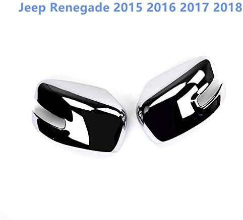 HIGH FLYING f/ür JP Renegade 2015 2016 2017 2018 verchromt /Äu/ßere R/ückspiegel Seitenspiegel Stylingleisten 2 St/ück ABS Kunststoff