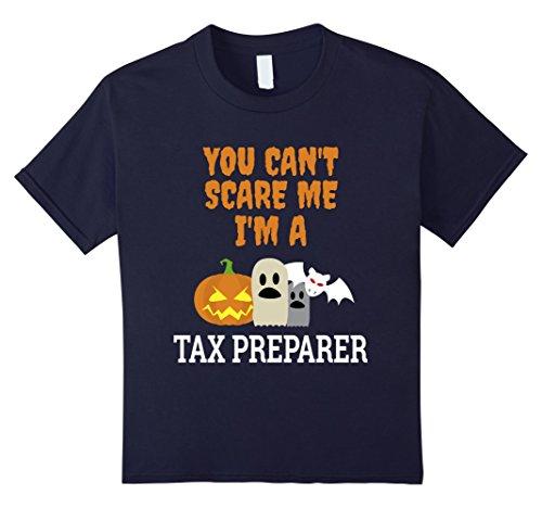 Kids Can't scare me I'm a Tax Preparer funny Halloween T shirt 12 (Preparer Halloween)