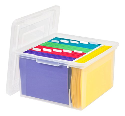 IRIS STORE-IT-ALL Letter and Legal Size File Box, Clear