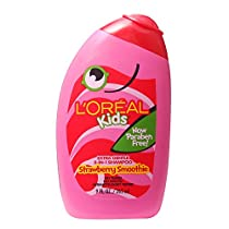 L'Oreal Kids Extra Gentle 2-in-1 Shampoo, Strawberry Smoothie, 9 fl. oz.