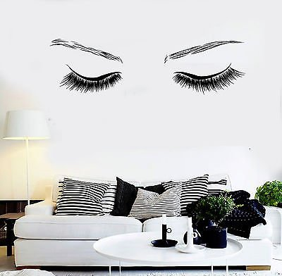 Vinyl Wall Decal Beauty Sexy Eyes Spa Salon Girl Room Stickers (vs4540)