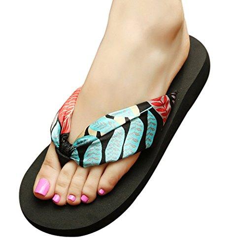 Cattior Womens Thong Sandals Flip Flops Slippers Ladies Slide Sandals Green vV7FPcfihu