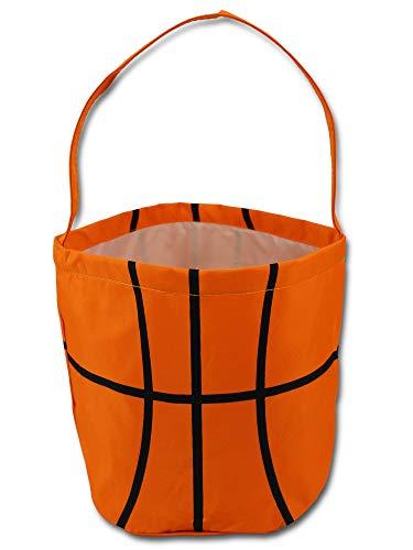 Sporty Basketball Easter Halloween Basket Bucket Snack Bags Children Kids Practice ()