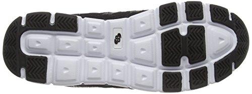 Bruetting Spiridon Fit Slip In - zapatillas de running de material sintético hombre negro - Schwarz (Schwarz/Weiss)