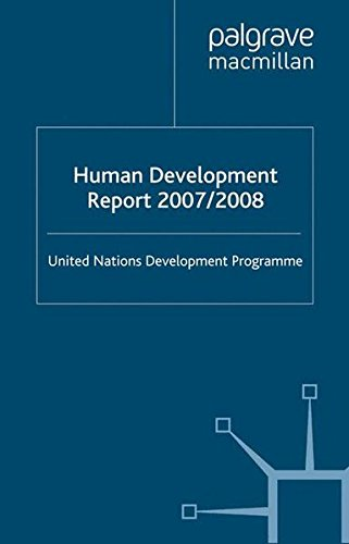 Human Development Report 2007: Climate Change and Human Development--Rising to the Challenge
