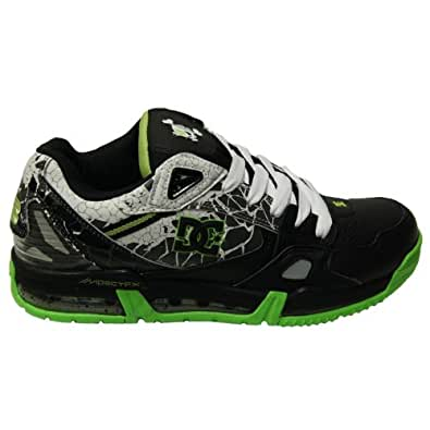 DC Versaflex Kb M Shoe Kwl, Black/White/Soft Lime, 8.5D