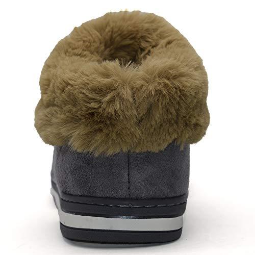 Fluffy Antidérapante en Intérieur Gris Fausse Bottes Femmes Slipper Extérieur Peluche ONCAI pour Mousse Brun Semelle Fourrure Bottines U1Oq7ppcY