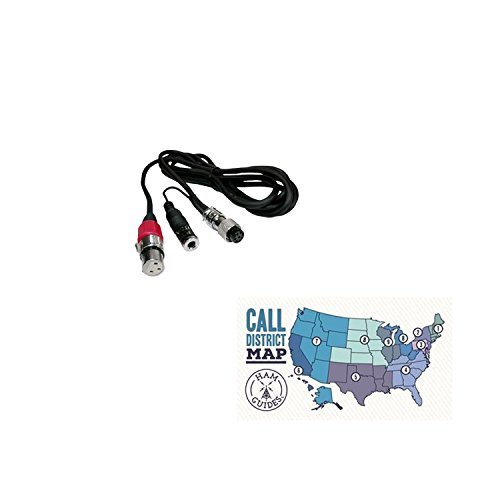 eil Sound Mic adapter cable, XLR: Kenwood 8-pin and Ham Guides TM Pocket Reference Card ()