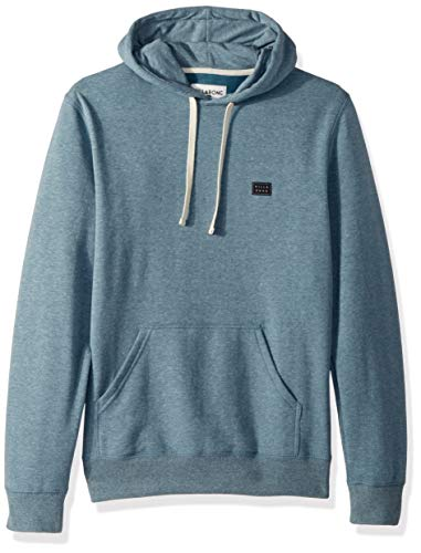 (Billabong Men's All Day Pullover Hoodie Washed Blue 2XL)