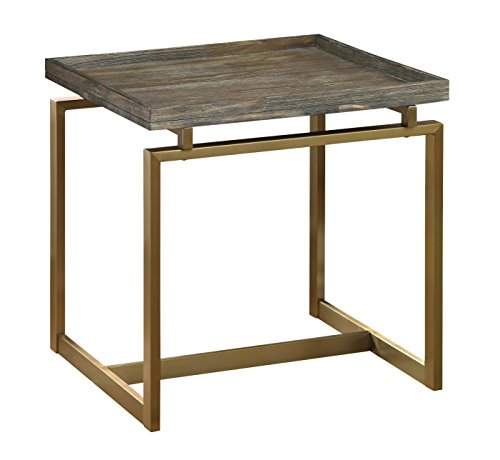 (Treasure Trove 17266 End Table, Weathered Brown)