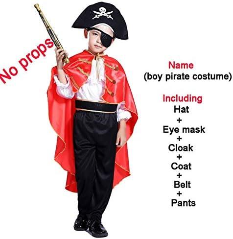 lkouq Piratas del Caribe Disfraz De Halloween para Niños Capitán ...