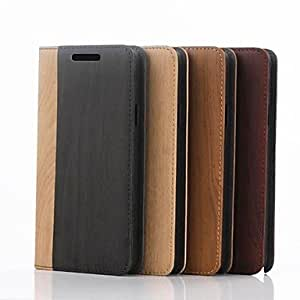 HP Wooden Pattern Full Body Leather Case with Card Slot for Samsung Galaxy Note 4 /N910(Delivery color)¡ú(Brown)