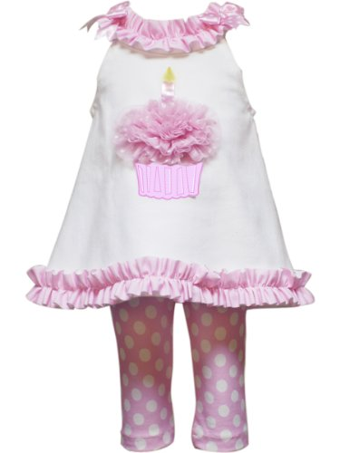 Rare Editions Baby Baby Girls' Birthday Legging Set