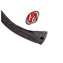 "3/4"" Split F6 Braided Cable Sleeving Wrap, Split Loom, Techflex (10FT)"