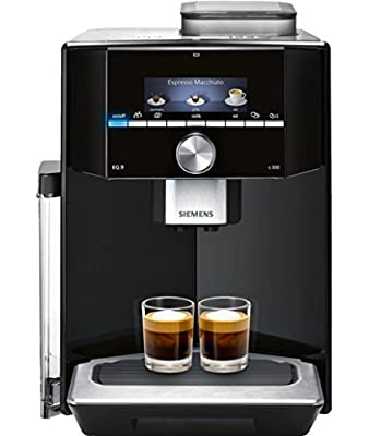 Siemens EQ.9 TI903209RW Super Fully Automatic Espresso Machine, Coffee Capuccino Latte Maker, OneTouch DoubleCup System, Black