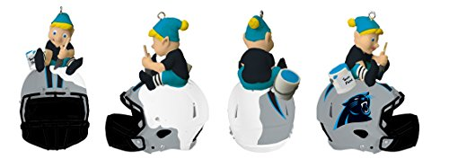 Team Sports America Carolina Panthers Helmet Elf (Panthers Santa Hat)