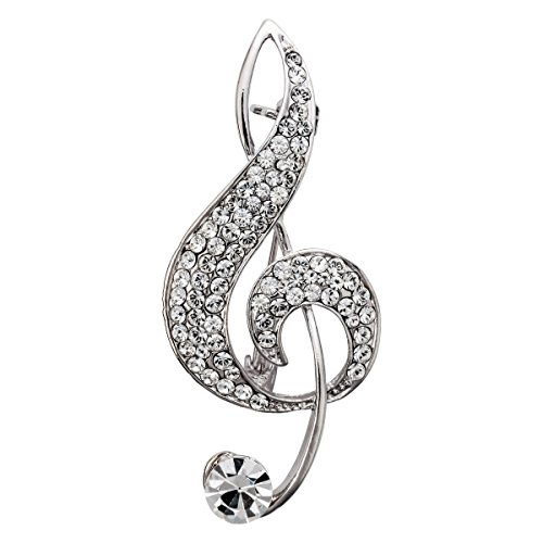 Szxc Music Note Brooch Pin Jewelry Gifts Collections Accessories for Her Women -
