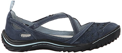 Women's Navy Blossom Flat Jambu Encore Jane Mary 76nqnd