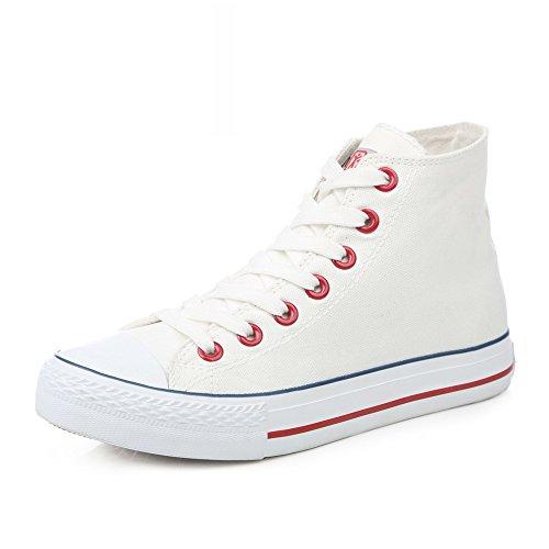 Zapatillas Primavera,Blanco Zapatos Flat-bottom,Estudiante Alta Clásica Pareja Zapatos,Zapatos Deportivos I