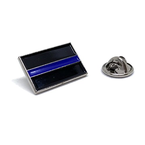 American Standard Flag - Blue Thin Line US Flag - USA Proudy Patriotic American Standard Official Police Lapel Pin Series (Blue Line Black Rectangle)