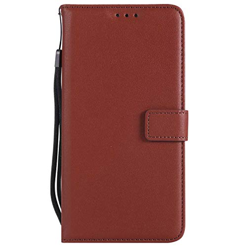 UNEXTATI Galaxy S6 Edge Plus Case, Leather Magnetic Closure Flip Wallet Case with Card Slot and Wrist Strap, Slim Full Body Protective Case (Brown #6) by UNEXTATI (Image #5)