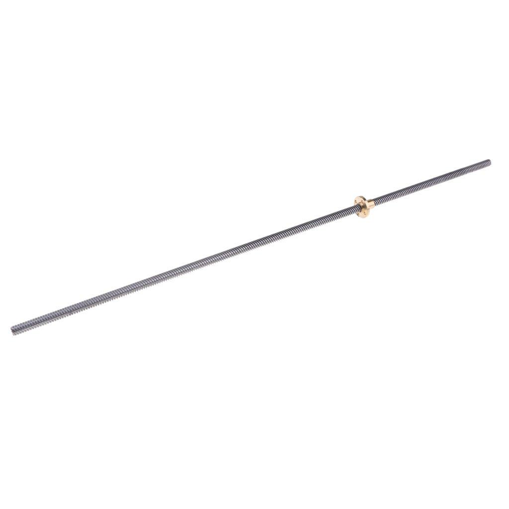 Homyl T8 2-D8 Gewindespindel Gewindesteigung Schraube Gewindespindel mit Messingmutter 200 mm