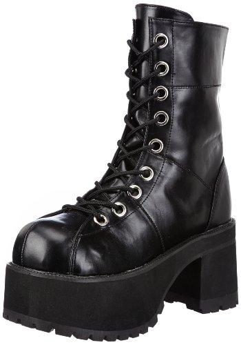 Botas 301 Demonia schwarz Plataforma Negro Ranger Mujer schwarz 1v1Eqw5