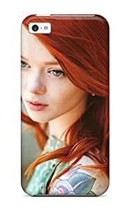 Forever Collectibles Women Redheads Hard Snap-on Iphone 5c Case Sending Screen Protector in Free