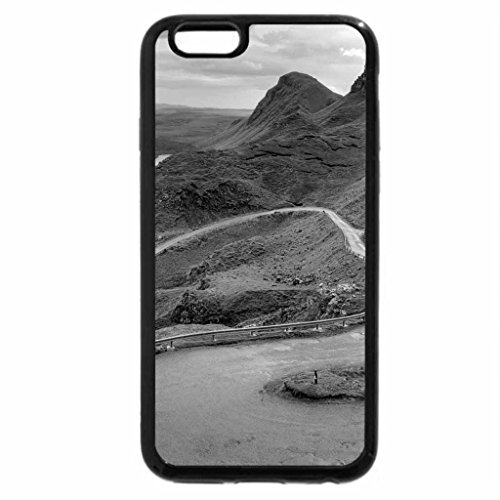 iPhone 6S Case, iPhone 6 Case (Black & White) - winding road in scotland hills