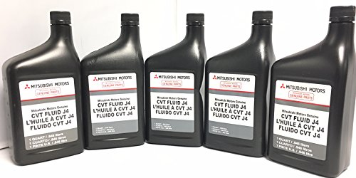 Genuine Mitsubishi J4 (J1) CVT Transmission Fluid - 5 Quarts - MZ320185 Lancer Outlander & Sport with CVT Transmission 2008 2009 2010 2011 2012 2013 2014 2015 2016 2017