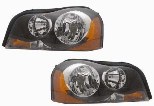 Volvo XC90 Replacement Headlight Assembly Halogen - 1-Pair Volvo Headlight Lens