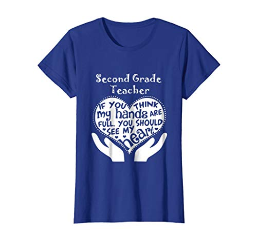 Womens Second Grade Teacher Shirts - 2nd grade teacher T-Shirt Medium Royal Blue