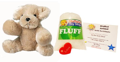 Make Your Own Stuffed Animal Mini 8 Inch Lab Dog Kit - No Sewing Required!