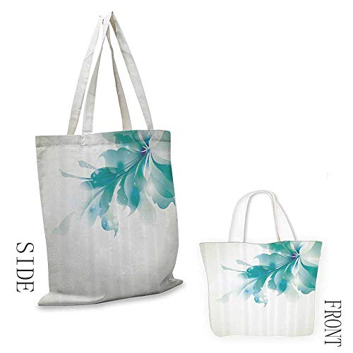 Single Card Triumph - Canvas travel bag Abstract Decor Big Single Beautiful Abstract Blue Ombre Flowers Artwork Decorative crafts 16.5