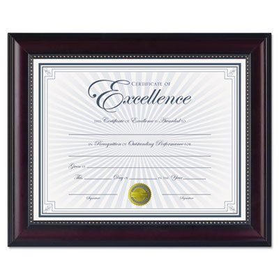 Prestige Document Frame, Rosewood/Black, Gold Accents, Certificate, 8 1/2 x 11'', Sold as 1 Each, 10PACK , Total 10 Each