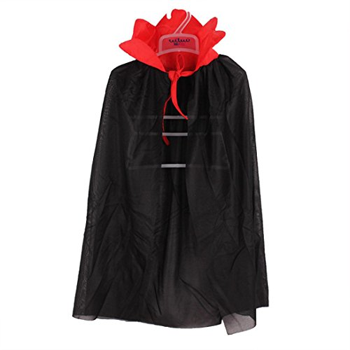 Halloween Costumes Boys 2016 (Childrens' Halloween Costume Wizard Witch Cloak Cape Robe Cosplay Prop for Boy Girl (Black))