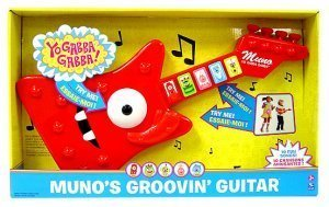 2008 YO GABBA GABBA Muno Guitar Musical Toy by Spin Master Plex ...