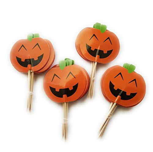 Halloween Pumpkin Cupcake Cake (Jack-O-Lantern Pumpkin Cupcake Topper Party Picks, 24)
