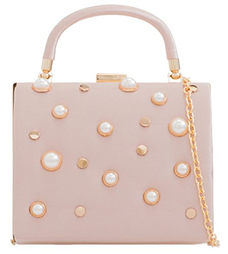 Compact Girly HandBags Compact Pearls Clutch HandBags Pearls Girly Bag Bag Pink Clutch TxqXwTd1t