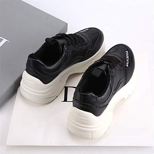 Plateau Leggere Sneakers Yan Donna Sportive amp; Corsa Scarpe Comfort Esterno Da In Antiscivolo Autunno Primavera Calzature Nero Con Pelle gPxBPwnZ