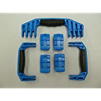 3 Blue Replacement Handles / 4 Latches for Pelican 1610 or 1620. Customize your Pelican Case.