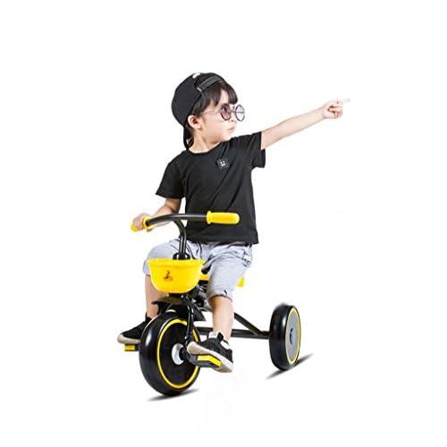 QWM-Baby bicyclettes enfants Chariots Tricycle Enfant Bicyclettes Enfant Bicyclettes 3 Roues, Pliable, 1-3 ans Cadeau pour enfants