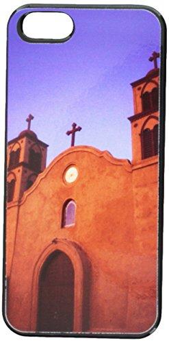 Graphics and More Old San Miguel Mission Adobe Church New Mexico Snap-On Hard Protective Case for iPhone 5/5s - Non-Retail Packaging - Black