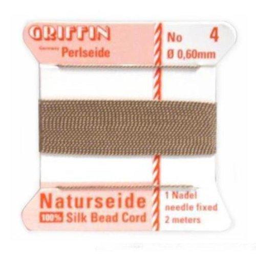 Griffin Silk Cord & Needle Size 4 Beige