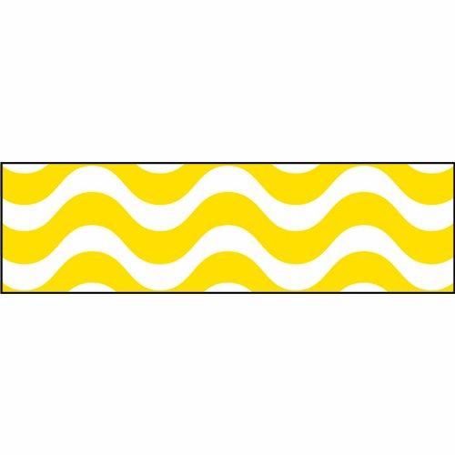 Trend Enterprises Inc. Wavy Yellow Bolder Borders, 35.75'