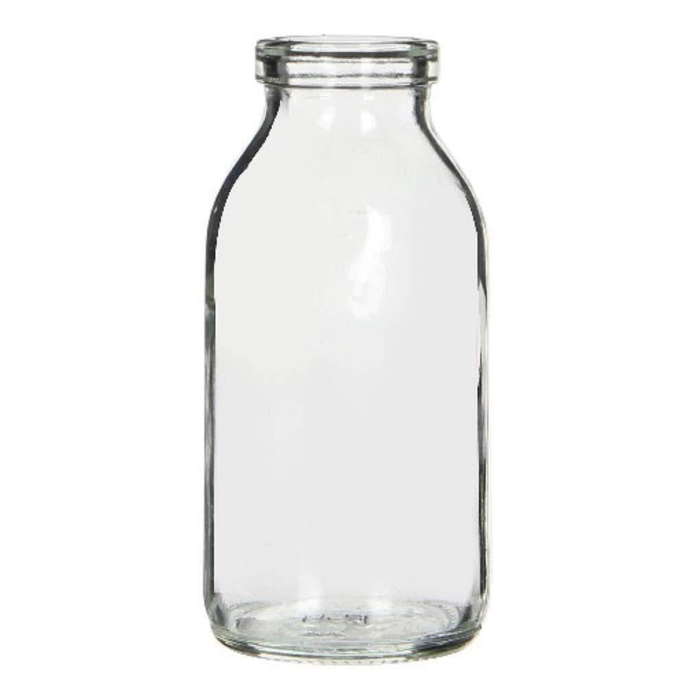 6 x Mini Glass Milk Bottles Vintage Style Wedding Glass Pot Vase 10cm Floralsilk