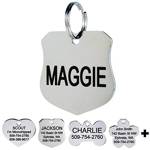 GoTags Pet ID Dog Tags. Stainless Steel. Custom
