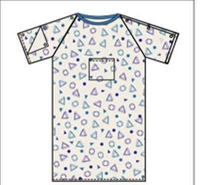 Lew Jan Textile Exam Gown - V62-5050PTDZ - 12 Each / Dozen