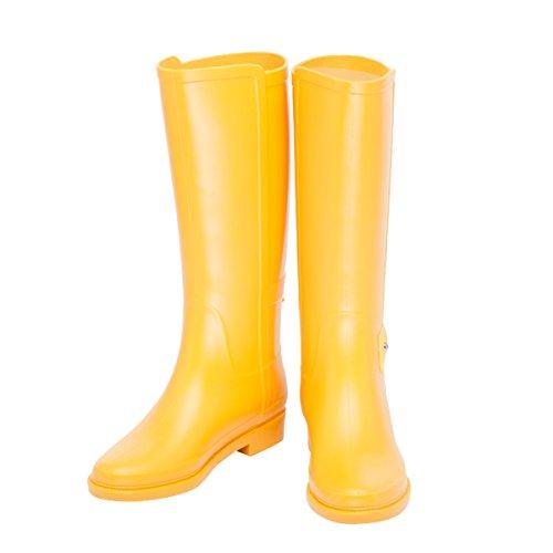 Dear Women Yellow Boots Platform Rain Time High Boots Knee Tall gr5qgR