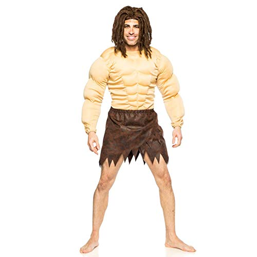 Seeing Red Men's Jungle Man Costume and Wig
